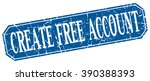 create free account blue square ... | Shutterstock .eps vector #390388393