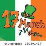 creative leprechaun hat on... | Shutterstock .eps vector #390391417
