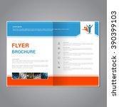 vector modern brochure ... | Shutterstock .eps vector #390399103