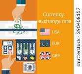 foreign exchange. vector...   Shutterstock .eps vector #390408157