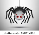 Black Spider Isolated. Vector...