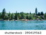view of lake arrowhead in... | Shutterstock . vector #390419563