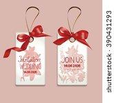 set of elegant invitation... | Shutterstock .eps vector #390431293