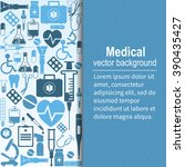 medical background. vector... | Shutterstock .eps vector #390435427