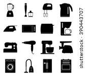 set of home electronics... | Shutterstock .eps vector #390443707