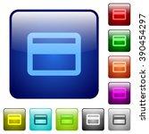 set of credit card color glass...