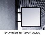 signboard shop mock up square... | Shutterstock . vector #390460207