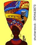 beautiful black woman.african...   Shutterstock .eps vector #390463873