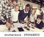 electronic experiment... | Shutterstock . vector #390468853