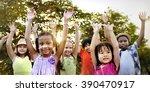 children friendship...   Shutterstock . vector #390470917
