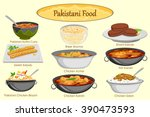 collection of delicious... | Shutterstock .eps vector #390473593