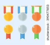 medal vector set isolated on a... | Shutterstock .eps vector #390477853