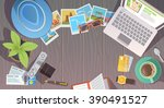 flat web banner on the theme of ... | Shutterstock . vector #390491527