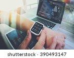 website designer working with... | Shutterstock . vector #390493147
