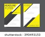 brochure  flyer design layout... | Shutterstock .eps vector #390493153