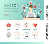 doctor and medical icons set ...   Shutterstock .eps vector #390507403