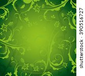a green  ornate background with ... | Shutterstock .eps vector #390516727
