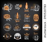 beer restaurant badges vector ... | Shutterstock .eps vector #390520783