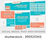 social media posts  header or... | Shutterstock .eps vector #390525343