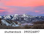 sunrise above deer valley from... | Shutterstock . vector #390526897