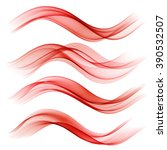 set of abstract color wave.... | Shutterstock .eps vector #390532507