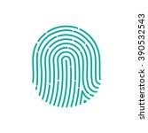Id App Icon. Fingerprint Vecto...