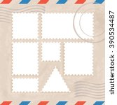 postage stamps template  ... | Shutterstock .eps vector #390534487