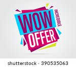 Wow Offer Banner Vector...