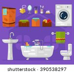 vector flat icons set of... | Shutterstock .eps vector #390538297