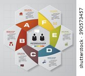 business concept with 6 options ... | Shutterstock .eps vector #390573457
