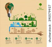 save friendly eco power concept ... | Shutterstock .eps vector #390579937