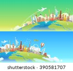 travel to world. road trip.... | Shutterstock . vector #390581707