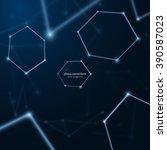 plexus connections background.... | Shutterstock .eps vector #390587023