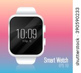 smart watch white. vector...