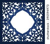 vector ornamental cutout panel... | Shutterstock .eps vector #390594973