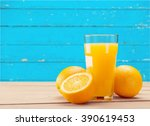 orange juice. | Shutterstock . vector #390619453