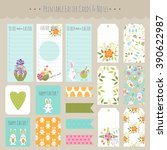 vector big set of easter cards  ...   Shutterstock .eps vector #390622987