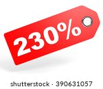 230 Percent Red Discount Tag O...