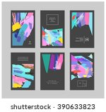 set of creative cards and... | Shutterstock .eps vector #390633823
