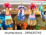 maslenitsa dolls during spring...   Shutterstock . vector #390635743