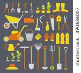 vector big collection of... | Shutterstock .eps vector #390636007