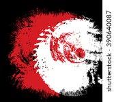 red and black ink splash... | Shutterstock . vector #390640087