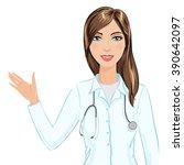 vector illustration of smiling... | Shutterstock .eps vector #390642097