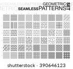 black and white geometric... | Shutterstock .eps vector #390646123