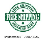 free shipping on a white ... | Shutterstock .eps vector #390646657