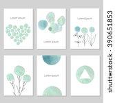 set of artistic universal cards.... | Shutterstock .eps vector #390651853