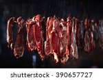 Meat In A Smokehouse  Hooks