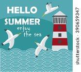 Hello Summer   Cartoon Card...