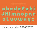 new set of stylish  3d effect... | Shutterstock .eps vector #390659893
