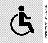 Wheelchair Handicap Icon.